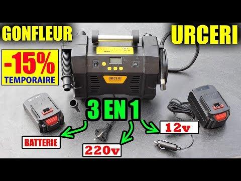 retail prices quality reputable site URCERI Compresseur Gonfleur de pneus 3en1 (220v/Batterie ...