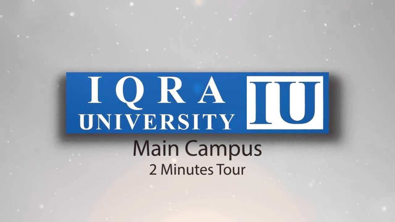 report on iqra university Our staff report june 30, 2018 karachi - fixit campaigner alamgir khan and iqra university chairman hunaid lakhani on friday announced running the campaign of .