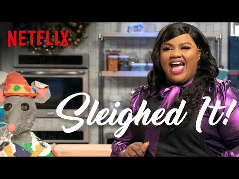 Nicole Byer Tries To Bake A Giant Mouse | Sleighed It! | Full Episode | Netflix