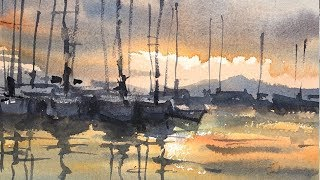 "Advancing with Watercolor: Tonal Contrast ""Quiet Harbor"""
