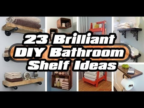 23 Brilliant DIY Bathroom Shelf Ideas