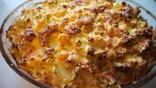 Рецепт КАБАЧКОВ с картошкой в духовке лучший рецепт