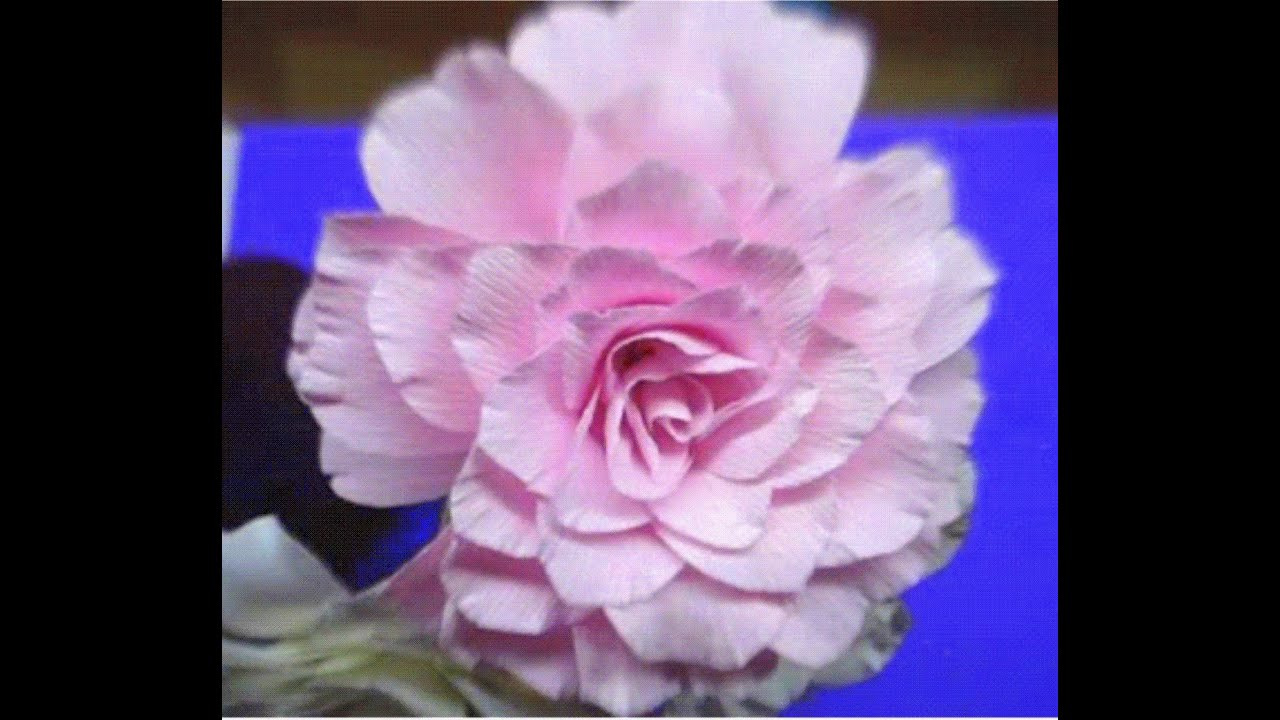 How to make paper flowers camellia flower 43 youtube mightylinksfo