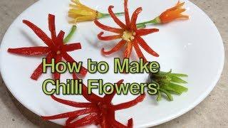 How to make Chilli Flowers Edible Garnish cheekyricho