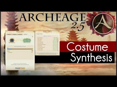 Archeage 2.5 - How to: Costume Synthesis
