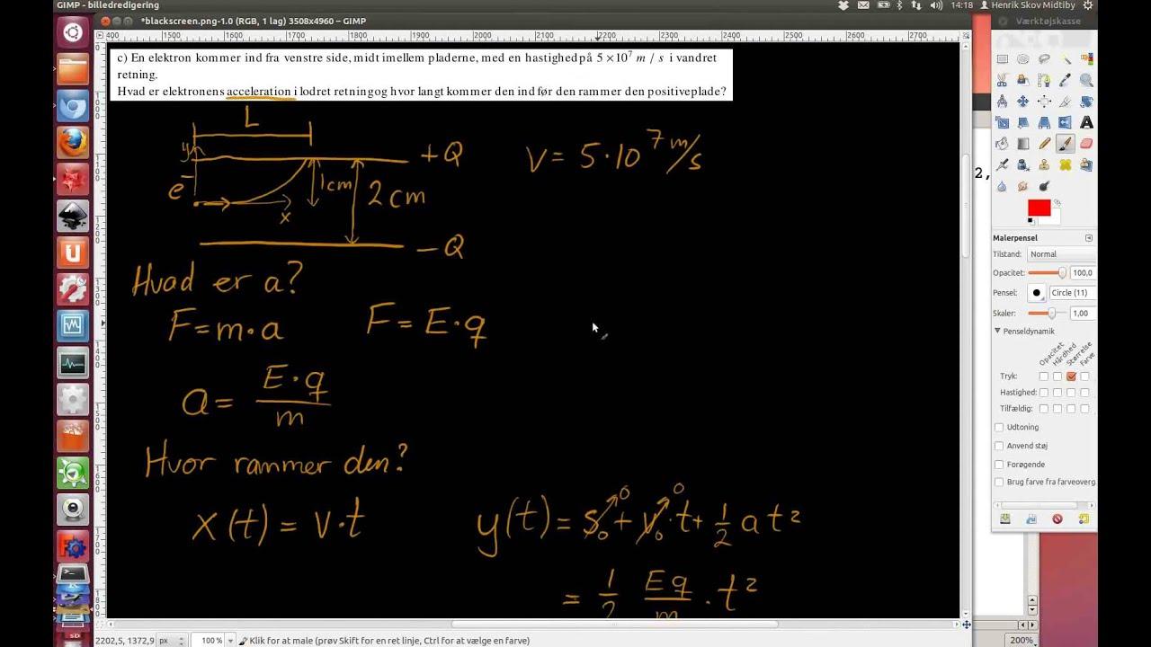 2011-06-22 Opgave 4. To parallelle metalplader, mathematica