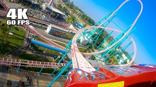Riding Xcelerator Roller Coaster! Multi Angle 4K POV Front Seat Knott's Berry Farm California
