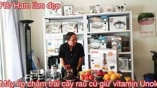 Máy ép chậm trái cây rau củ Unold 3in1 - giữ được vitamin và cho nhiều nước hơn
