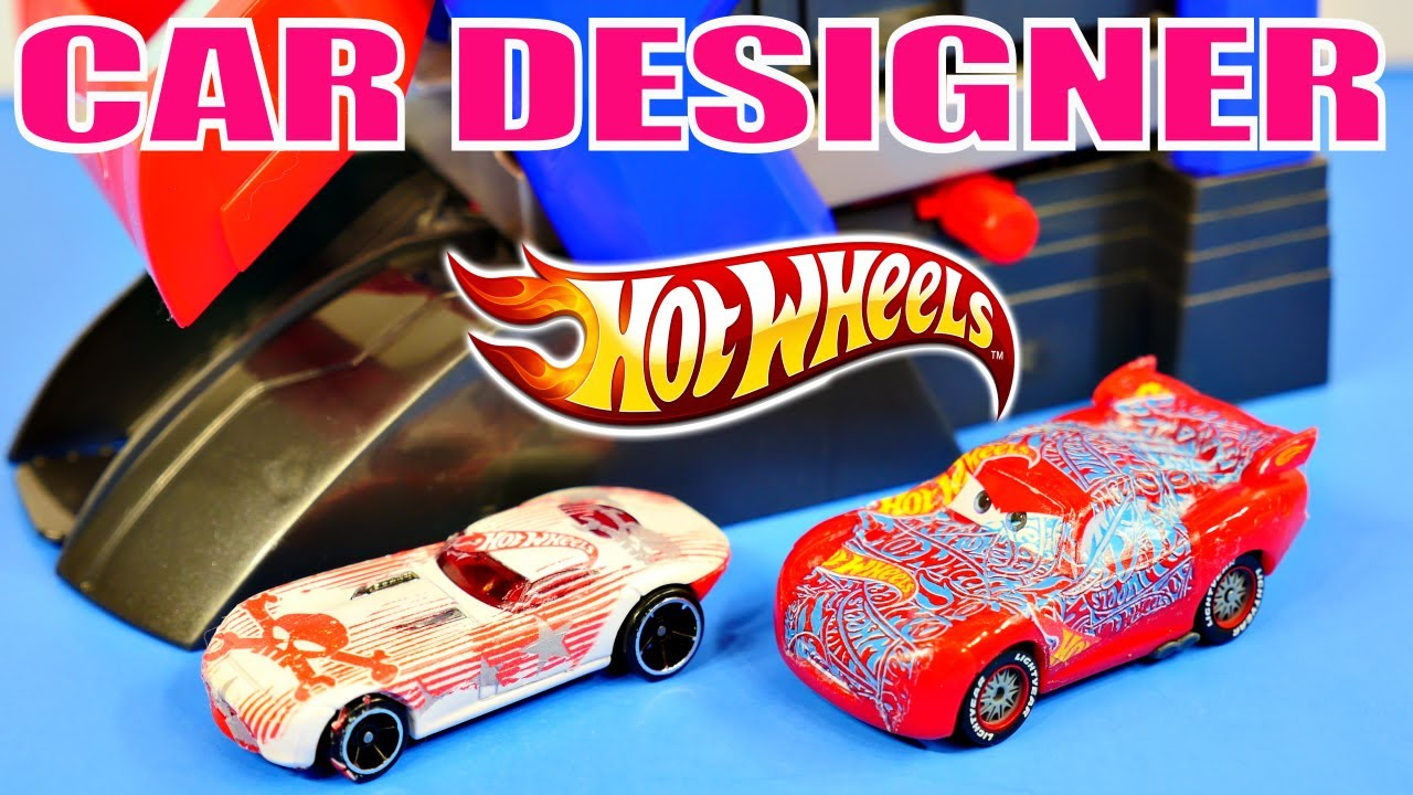 car design machine hot wheels cars 2 lightning mcqueen disney pixar custom toys youtube