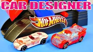 Car Design Machine Hot Wheels Cars 2 Lightning Mcqueen Disney Pixar Custom Toys