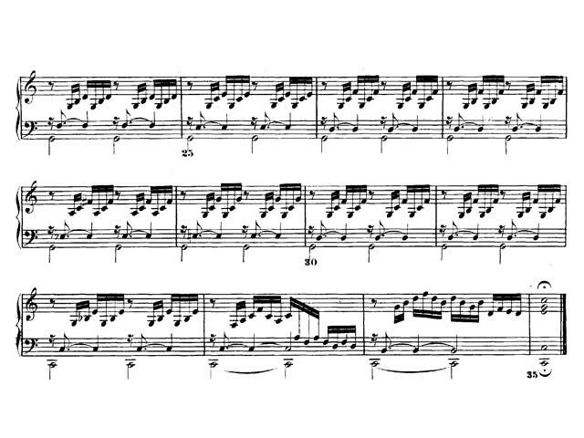 J. S. Bach: El clave bien temperado. Preludio y Fuga nº 1 en Do mayor BWV 846. Audición y Partitura