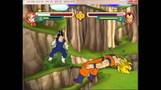 (Pc)Dolphin 2.0 Gameplay: DBZ Budokai 3: Goku vs Vegeta!