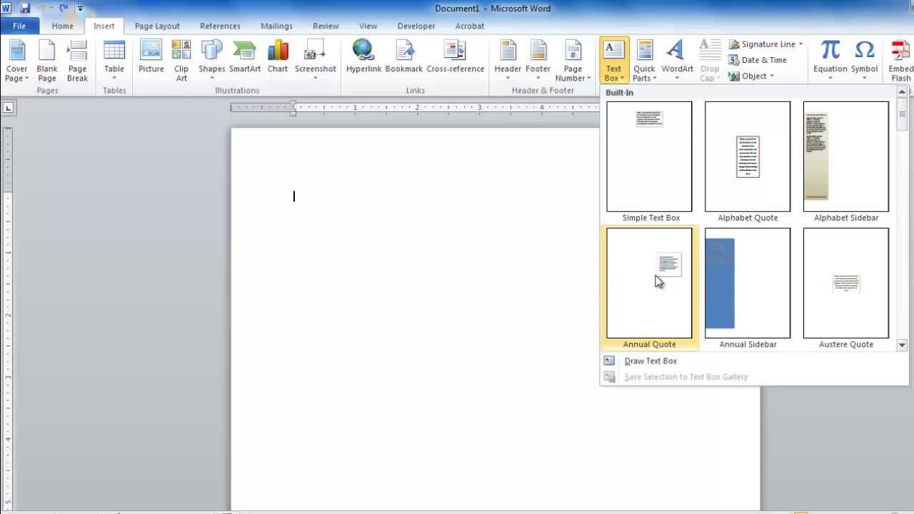 How to Create Text Box in Word - YouTube
