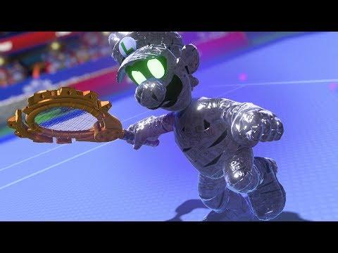 Mario Tennis Aces Vs Dark Luigi Youtube
