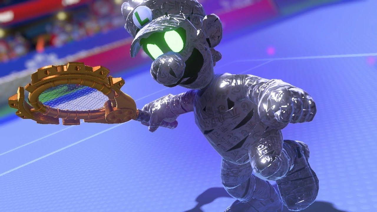 Mario Tennis Aces Vs Dark Luigi