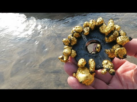 We Pull Out Gold With A Simple Magnet; This Is A Trick For Nuggets!!!