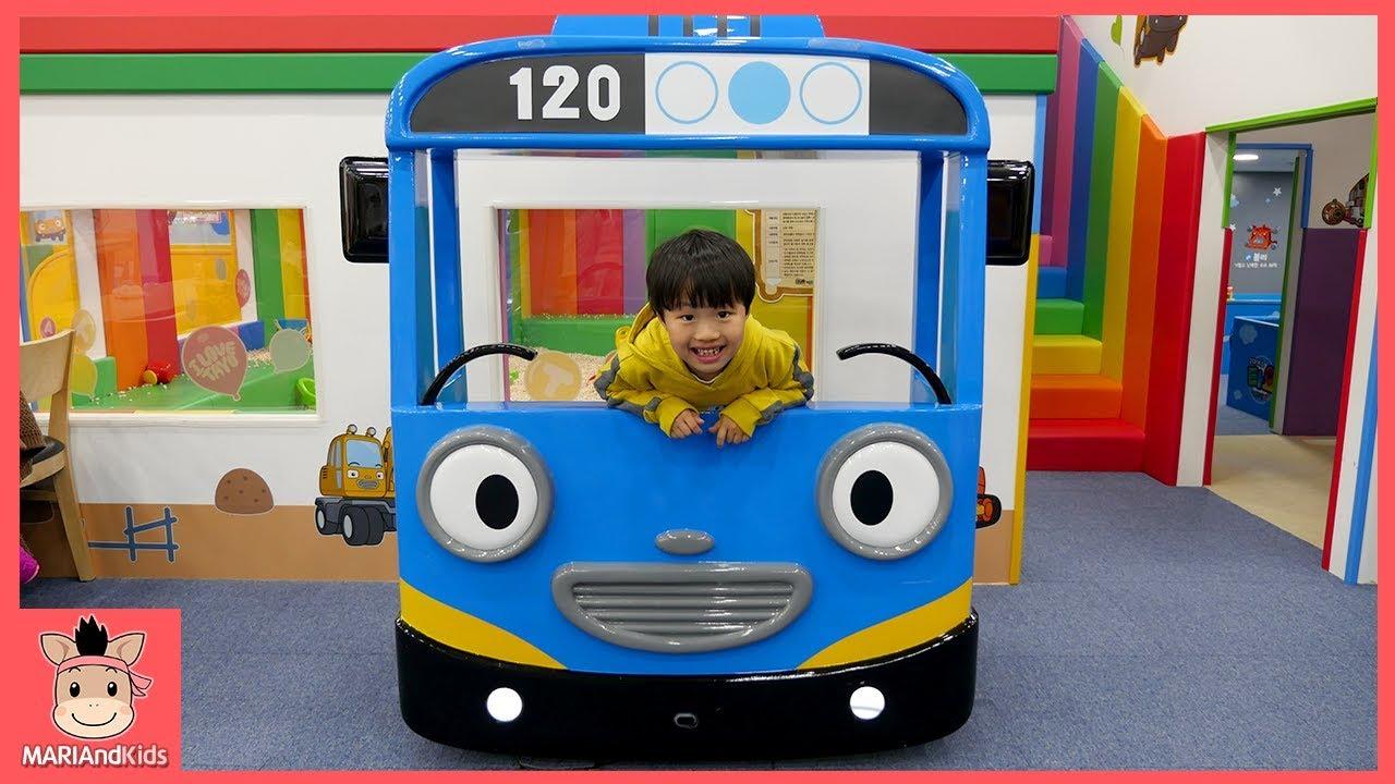 타요 키즈 카페 타요버스 자동차 미끄럼틀 장난감 어린이 놀이 Tayo Kids Cafe Toys