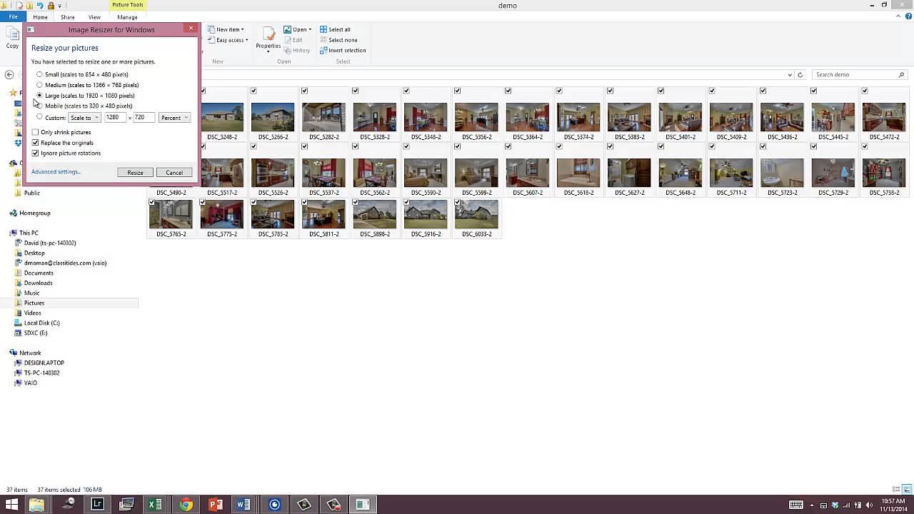 Windows photo resize - YouTube