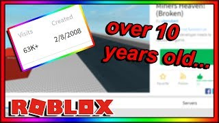playing the first roblox game i EVER played (over 10 years old)