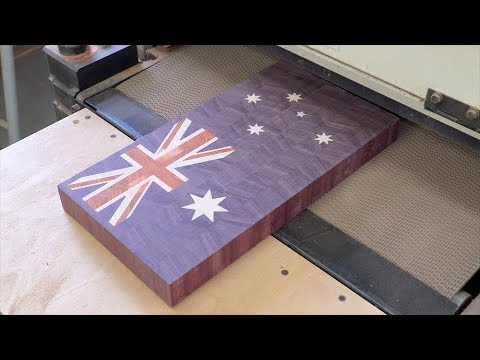 Australian flag end grain cutting board