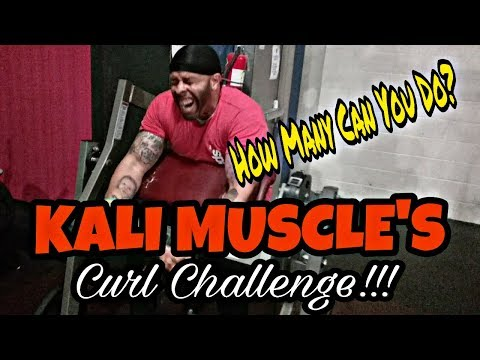 Kali Muscle's Curl Challenge|How Many Reps Can You do?