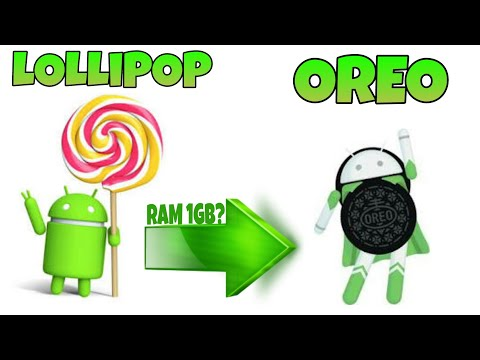 Cara Upgrade HP Android 5.0.0 LOLLIPOP ke versi 8.0.0 OREO Tanpa Harus Root & PC 2018 (TEST RAM 1GB)