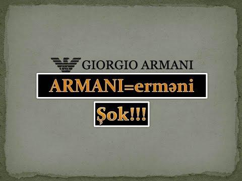 Armani Firmasının Erməni Tarixçəsi