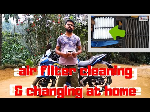 air filter cleaning & changing at home in malayalam....