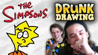 DRUNK DRAWING SIMPSONS