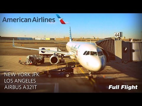 American Airlines Full Flight: New York To Los Angeles (Airbus A321T) *With ATC*