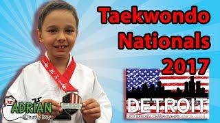 My first Taekwondo National Championships-2017 Detroit.  (subtitulado en Español)