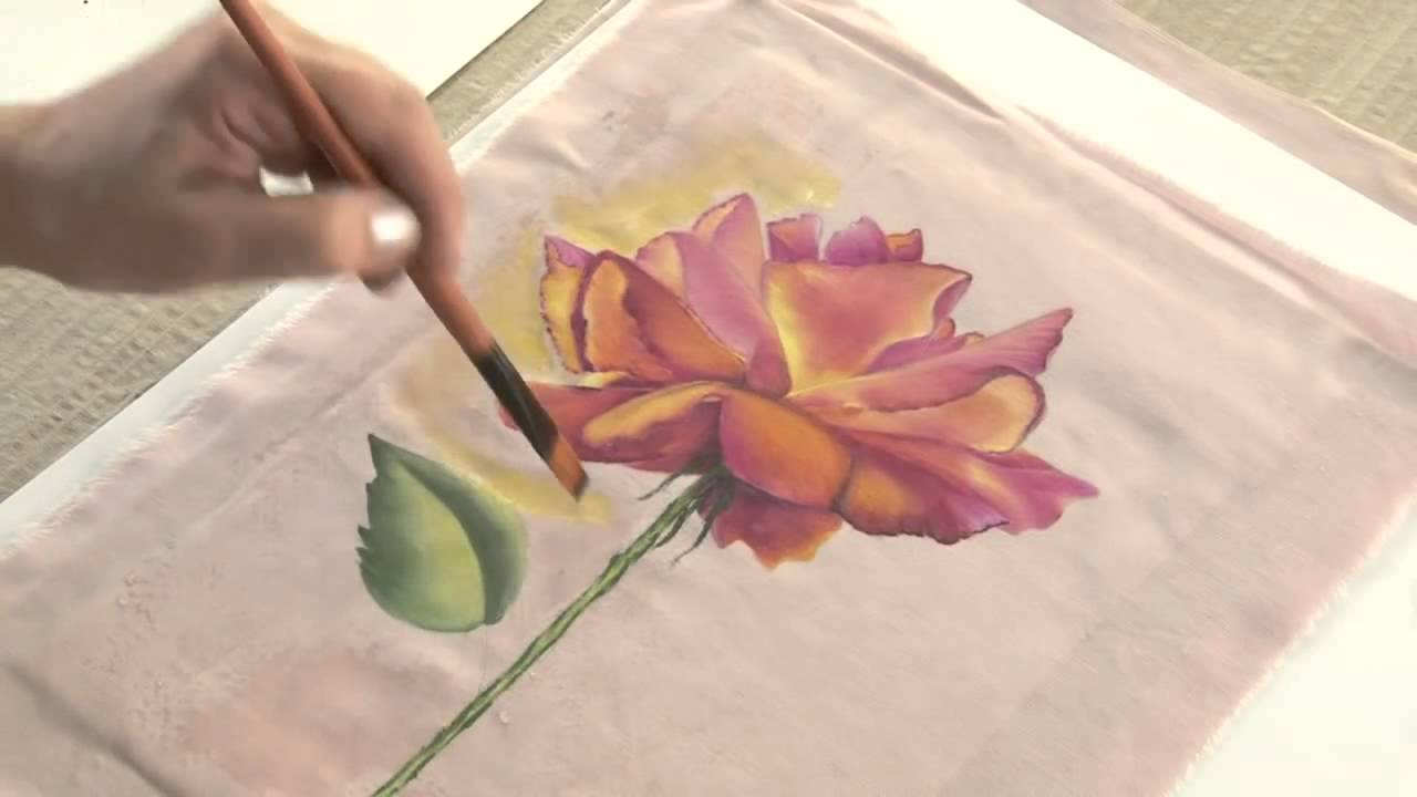 Monitor ana maria paravic pintura sobre tela como pintar una remera manos a la obra - Como pintar sobre tela ...