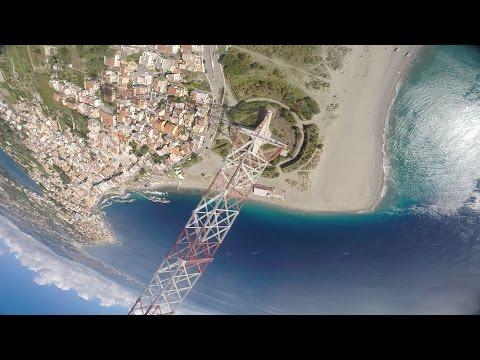 FPV - Tower Dive Abort!!! 232m Pilone Di Torre Faro, Sicily