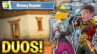 WINNING DUOS WITH CHEDDARSOMBRERO! (Fortnite Battle Royale)