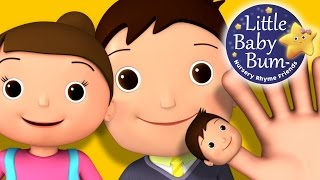 Finger Family (Daddy Finger) | Nursery Rhymes | from LittleBabyBum! | ABCs and 123s