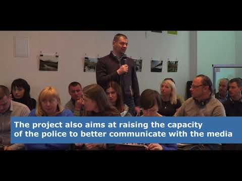 Trainings of Ukrainian law enforcement officers on safety of journalists (40')