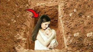 Mezarda doğum yapan kadın