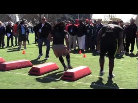 Highlights of Georgia OLB Jarvis Jones working out at Pro Day