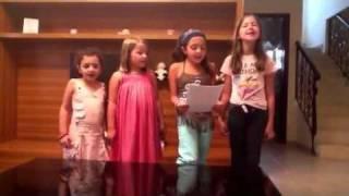 Kids singing last Friday night
