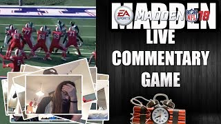 MADDEN 18 LIVE GAME COMMENTARY