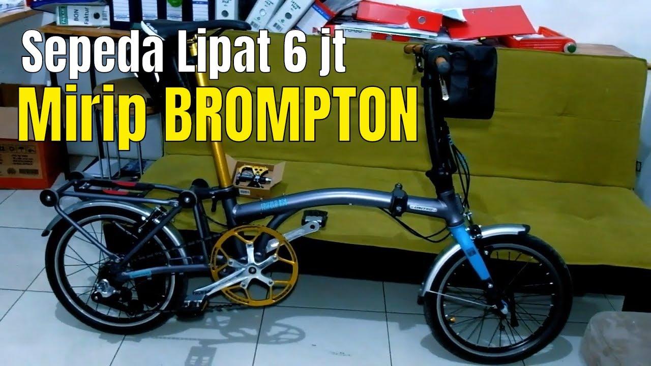 MIRIP BROMPTON !!! Review Sepeda Lipat United Trifold 3S