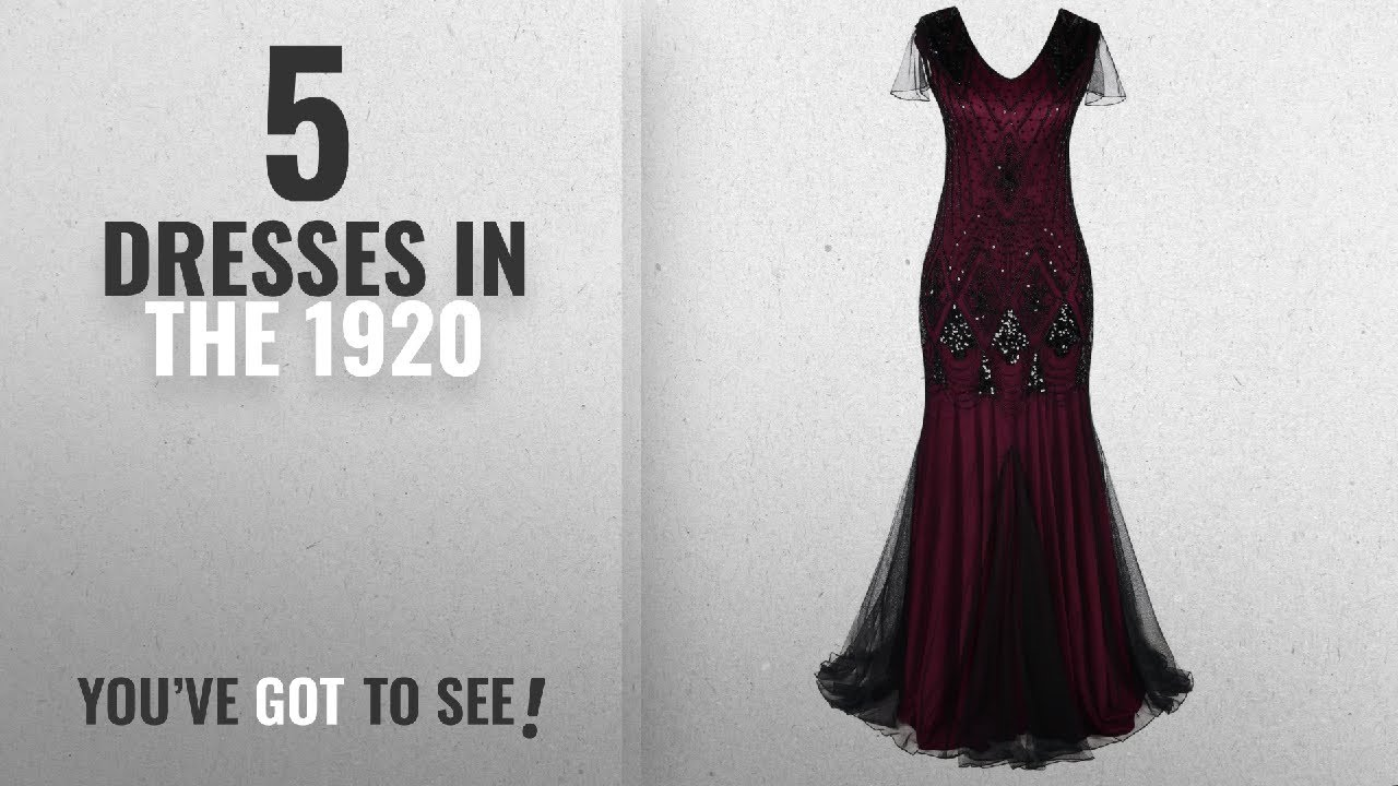 78dcab73a9d7 Top 10 Dresses In The 1920 [2018]: PrettyGuide Women 1920s Ball Gown ...