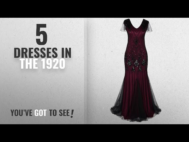 ef7efbf658 PrettyGuide Women s 1920s Black Sequin Gatsby Floor Length Evening Prom  Dress