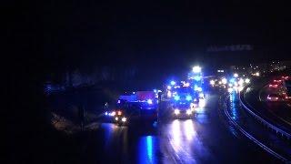 NRWspot.de | Schwerer Verkehrsunfall auf BAB 1 vor Hagen West – Kurze Übersichtsaufnahme