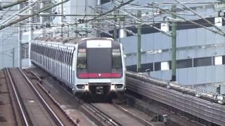【香港の鉄道】MTR荃湾線 葵芳駅を発車、入線するメトロキャメル電車