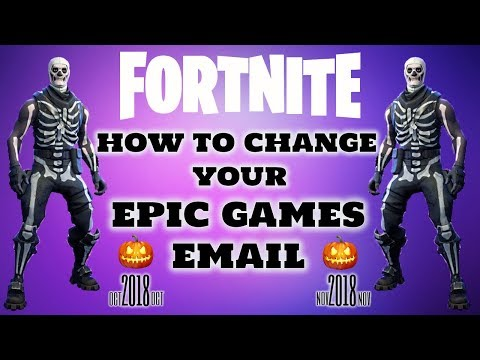 FORTNITE How To Change Your Epic Games Email (2018)