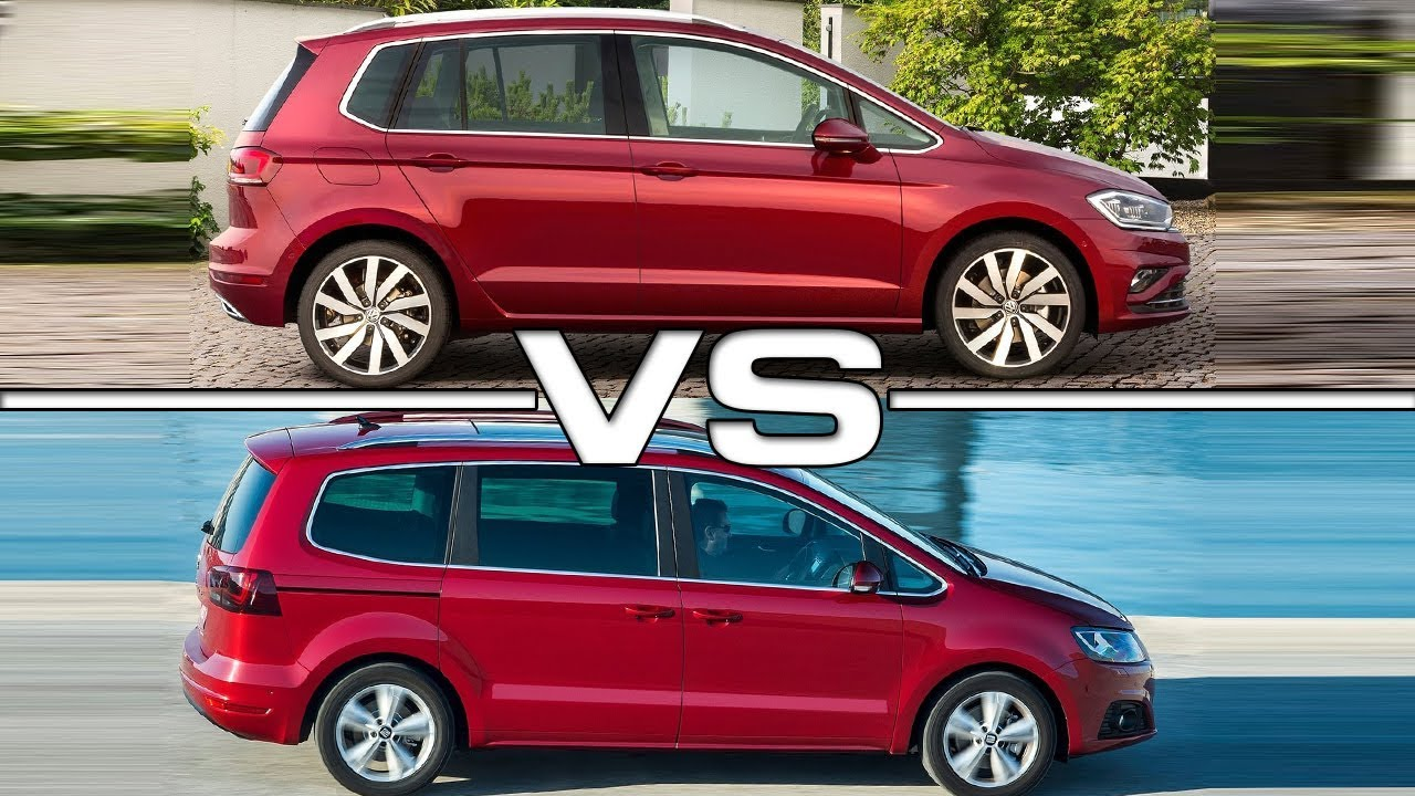 2018 Volkswagen Golf Sportsvan Vs 2017 Seat Alhambra Youtube