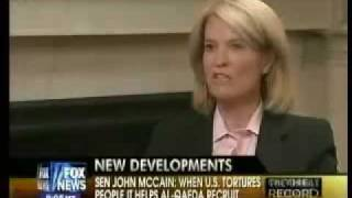 John Mccain: Waterboarding is torture! Mccain educates Fox News on torture.