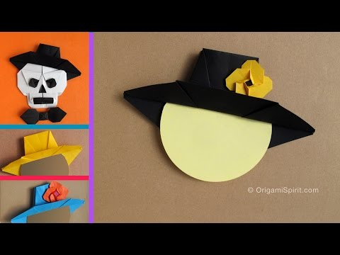 Origami Hat for Halloween : : Sombrero Mexicano