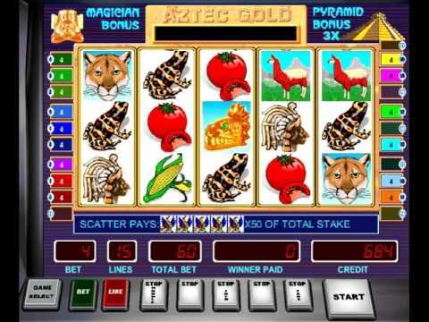 Как играть в онлайн автомат Пирамиды (Aztec Gold)